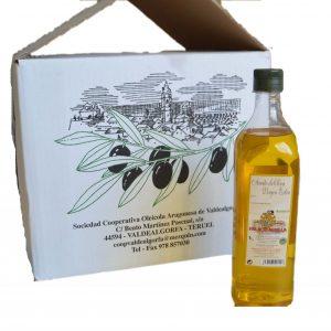 Caja aceite de oliva 1 litro