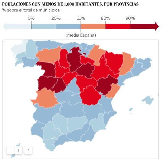 Mapa de la España vaciada